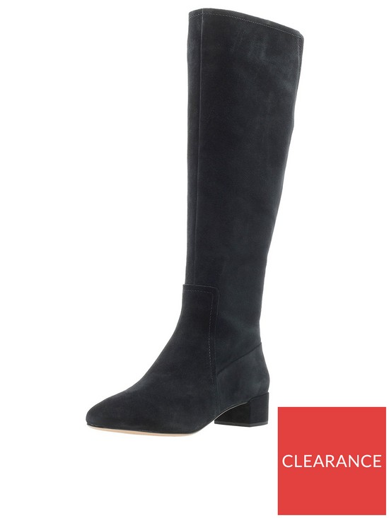 7d51e622512 Orabella Ava Knee High Boot - Black Suede