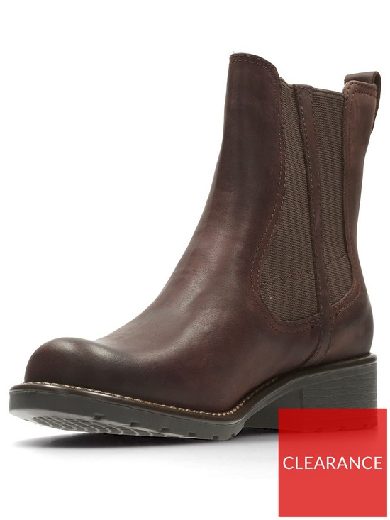 bd2a02fe588d9 Clarks Orinoco Club Chelsea Ankle Boot - Burgundy   very.co.uk