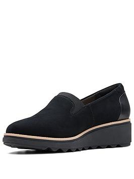 Clarks Clarks Sharon Dolly Slip On Shoe Black Suede