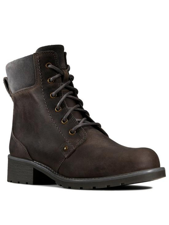 da892cad9574d Clarks Orinoco Spice Lace Up Ankle Boot - Grey | very.co.uk