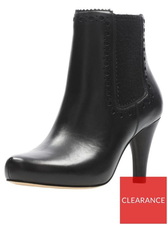 Clarks Dalia Bella Heeled Ankle Boot - Black  4806ea7f8132