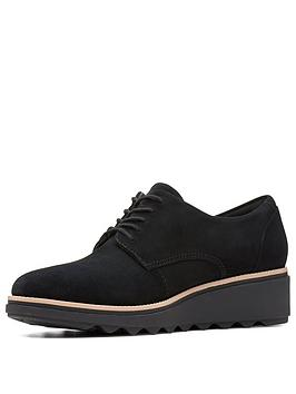 clarks-sharon-noel-low-wedge-brogue-black