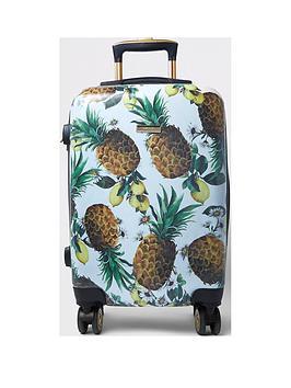 river-island-pineapple-print-hard-shell-cabin-case