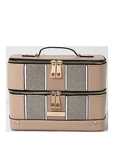 river-island-river-island-panelled-cutabout-vanity-case