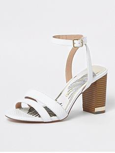 river-island-river-island-wide-fit-block-heel-sandals--white