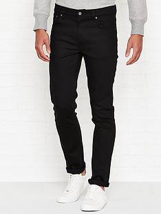 nudie-jeans-lean-dean-slim-fit-jeans--nbspdry-ever-black