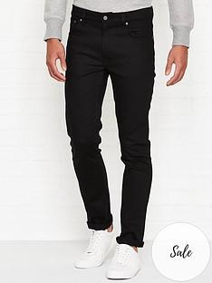 nudie-jeans-lean-dean-slim-fit-jeans--nbspdry-ever-black