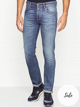 nudie-jeans-grim-tim-slim-fit-flat-vintage-wash-jeans-blue