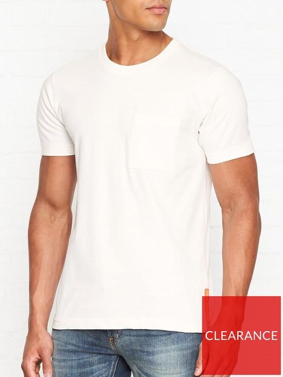 404fc9b92 NUDIE JEANS Kurt Worker T-shirt - White   very.co.uk