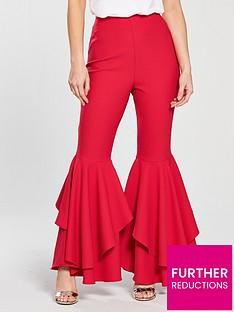 v-by-very-petite-ruffle-detail-wide-leg-trouser-rednbsp