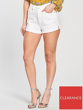v-by-very-petite-high-waisted-ripped-denim-shorts-whitenbsp