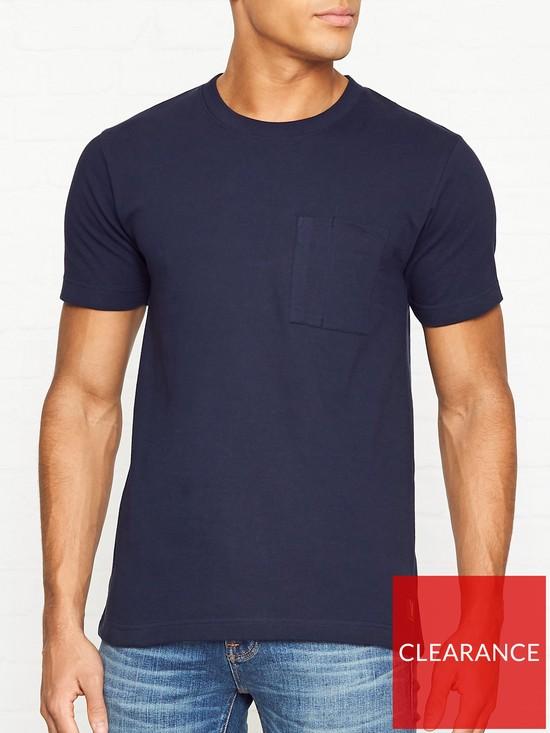 f4c46b6b8 NUDIE JEANS Kurt Worker T-Shirt - Navy   very.co.uk