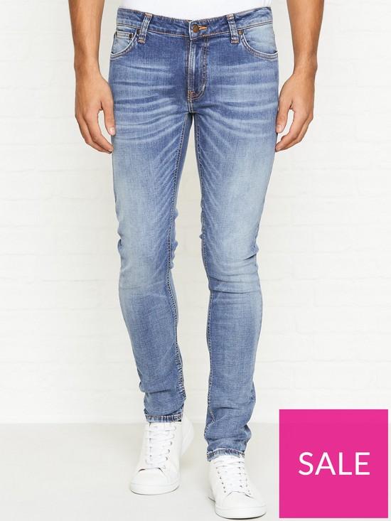 591759bfa7e476 NUDIE JEANS Skinny Lin Slowly Worn Wash Jeans - Blue | very.co.uk
