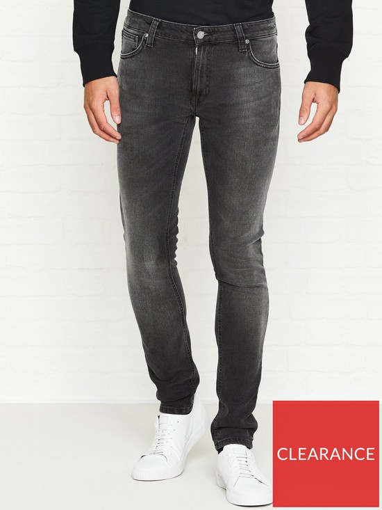 1b9c51c2d59a3 NUDIE JEANS Skinny Lin Black Movement Wash Jeans - Washed Black ...