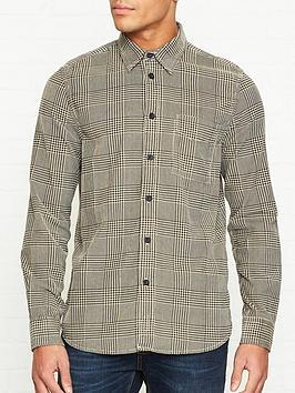 nudie-jeans-sten-velvet-glen-check-shirt--nbspsandblack