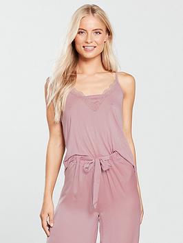v-by-very-satin-trim-caminbspand-satin-trouser-pyjama-set-pink