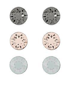 accessorize-sterling-silver-swarovski-stud-set-of-3-metallic