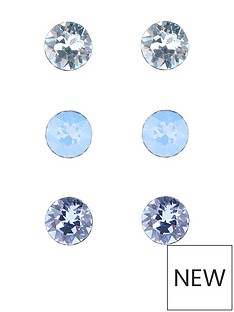 accessorize-sterling-silver-swarovskregi-stud-set-of-3-blue
