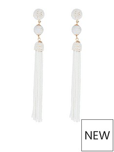 accessorize-beaded-tassel-and-ball-statement-earring-white