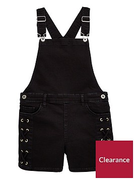 v-by-very-girls-black-denim-lace-up-dungaree