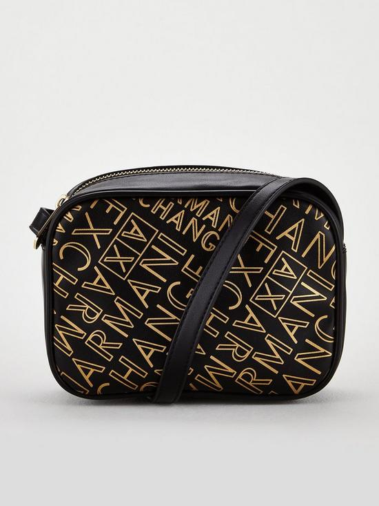 33849ef8a7b3 Armani Exchange Armani Exchange All Over Logo Printed Small Crossbody Bag