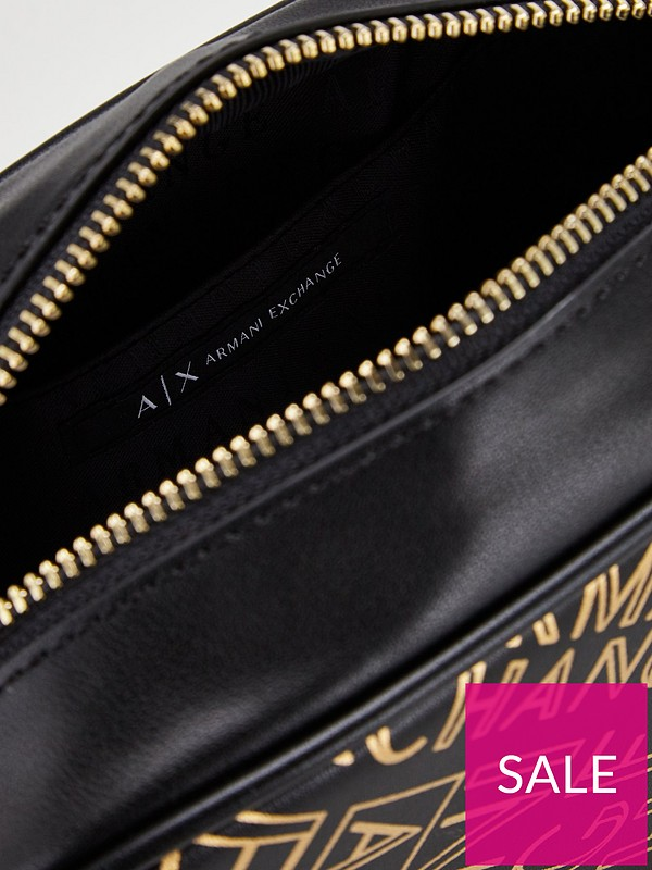 22a74054f1e Armani Exchange Armani Exchange All Over Logo Printed Small Crossbody Bag