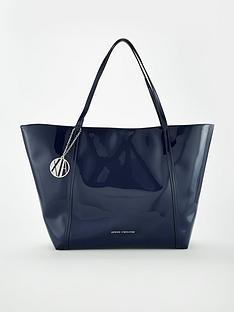 armani-exchange-patent-pu-shopper-tote-bag-navynbsp