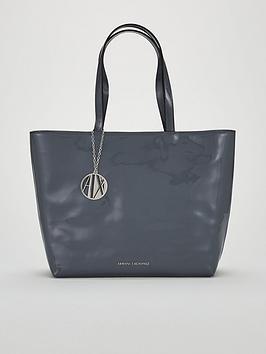 Armani Exchange Patent Pu Shopper Tote Bag