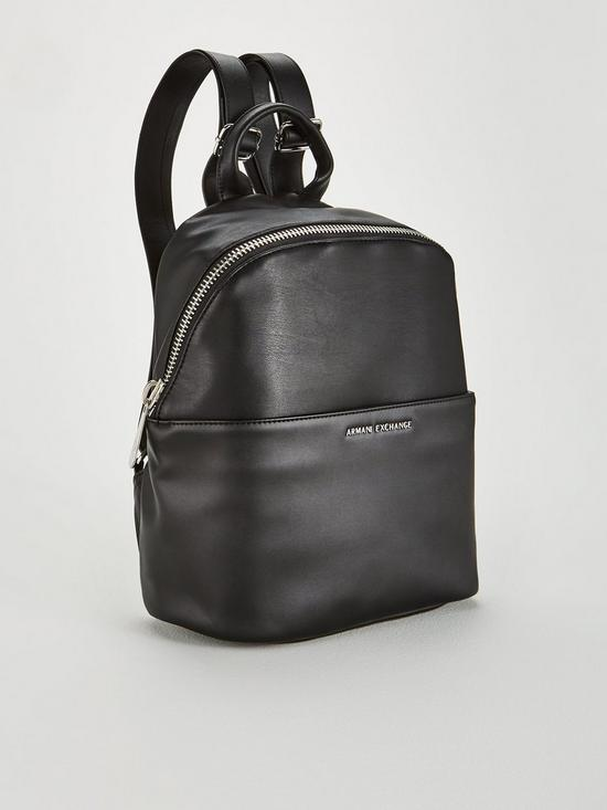 ad5b1692270 ... Armani Exchange Soft Faux Leather Backpack - Black. View larger