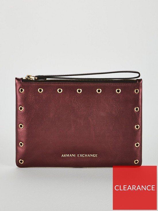 Armani Exchange Small Pouch Clutch  1b685bfba881f