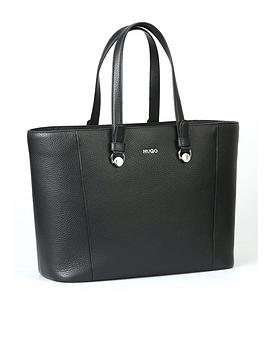 Hugo Boss Hugo Boss Hugo Mayfair Leather Shopper Tote Bag