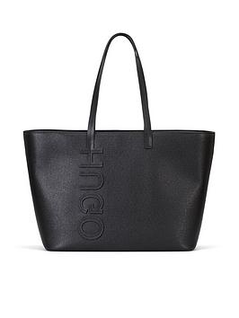 hugo-chelsea-shopper-logo-black-tote-bag