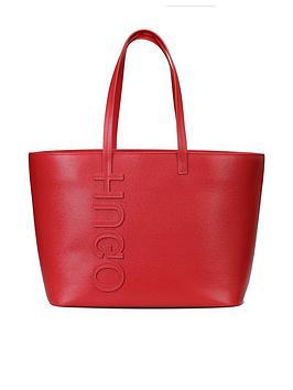 Hugo Boss Hugo Boss Hugo Chelsea Shopper Logo Red Tote Bag