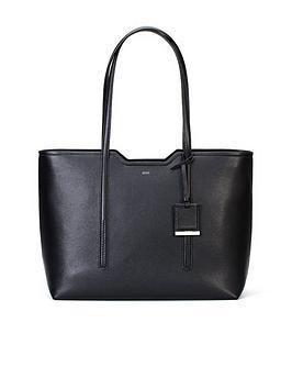Hugo Boss Hugo Boss Boss Taylor Black Shopper Leather Tote Bag