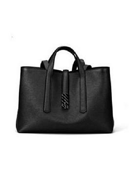 Hugo Boss Hugo Boss Boss Veronika Leather Black Tote Bag