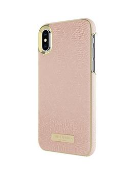 kate-spade-new-york-new-york-wrap-case-for-iphone-x-saffiano-rose-goldgold-logo-plate