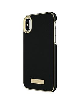 kate-spade-new-york-wrap-case-for-iphone-x-saffiano-blackgold-logo-plate