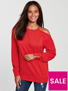 v-by-very-cold-shoulder-sweat-red