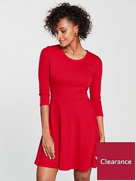 v-by-very-ponti-skater-dress-red