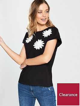 v-by-very-3d-floral-detail-t-shirt-black