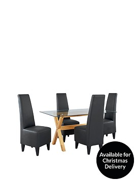 venla-150-cm-solid-wood-and-glass-dining-table-4-manhattan-chairs