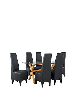 venla-150-cm-solid-wood-and-glass-dining-table-6-manhattan-chairs-arrives-in-one-delivery