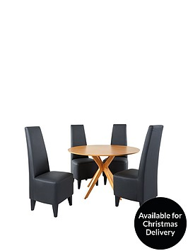 starburst-119-cm-oak-veneer-circular-dining-table-4-manhattan-chairs