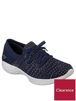 skechers-lace-up-you-prominence-trainers-navy
