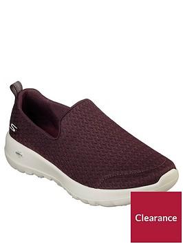 skechers-go-walk-joy-rejoice-slip-on-plimsoll-trainers-red