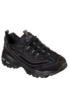skechers-dlites-chunky-trainer-black