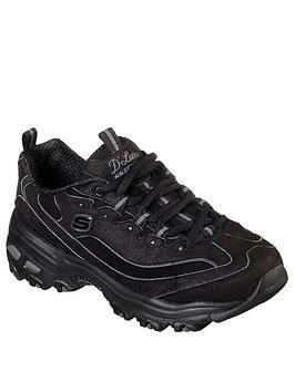skechers-dlites-chunky-trainer-black