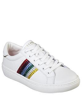 Skechers Goldie Rainbow Rockers Trainer - White