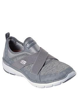 Skechers Flex Appeal 3.0 Trainer - Grey