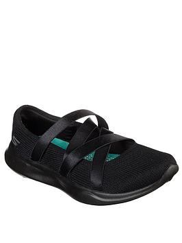 skechers-serene-elation-knit-satin-straps-ballet-pumps-black